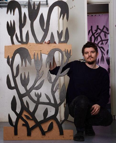 The artist Olle Halvars